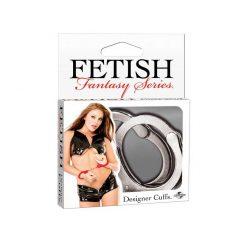 Fetish fantasy designer cuffs, silver