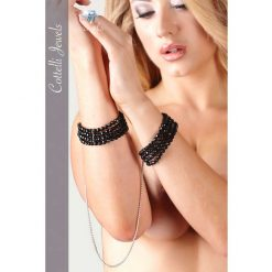 Cotelli Black Pearl Cuffs