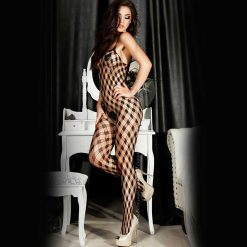 Bodystocking Chili Rose, squares