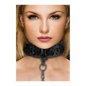 Collar with leash - neoprene