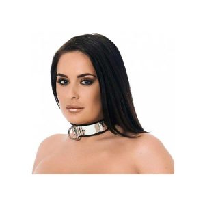 Metal & leather Collar with padlock